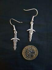 Sword Dagger Earrings Tibetan Silver Fancy Style