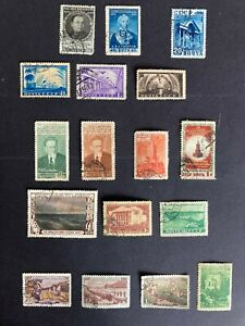 RUSSIA 1950 stamps collection , used