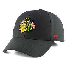 Chicago Blackhawks '47 NHL MVP Structured Adjustable Black Hat Cap Hockey OSFM
