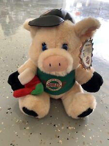 "1998 Harley Davidson Plush Christmas Hog Pig Stuffed Animal 12"" North Pole Club"
