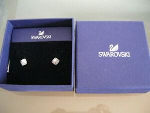 Authentic SWAROVSKI stud Earrings  $79 white 5017075 crystal