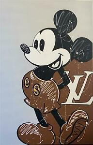 Authentic ORIGINAL Louis Vuitton Mickey Daisy Nicole painting signed