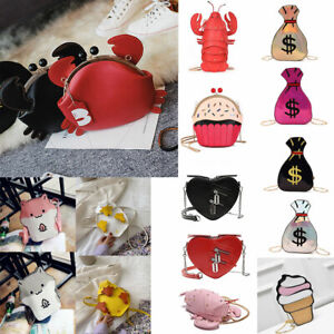 Cute Animal Cartoon Pouch Bag Womens Cross Body Handbag Backpack Purse Shoulder