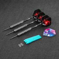 CyeeLife 18g Steel tip Darts with PVC SHAFTS+Extra Flights+Metal O Rings