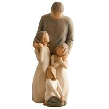 Willow Tree Father with Three Daughters Figurine Gift Set Family Group