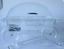 "Vintage Grainware ""The Party Wagon"" Lucite Table Top Serving Cart (Rare)"