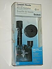 New Beckett LARGE 3 Tier Fountain Nozzle Water Gardening System & Extension Tube