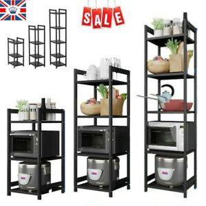 3/4/5 Tier Kitchen Microwave Oven Holder Rack Iron Storage Organizer Shelf Stand