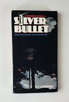 Silver Bullet VHS 1993 Werewolf Horror Stephen King Corey Haim Gary Busey HTF