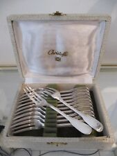 french silverplate 12 pastry forks Christofle Versailles pattern
