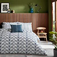 ORLA KIELY LINEAR STEM NAVY BLUE WHITE 200TC 100% COTTON SINGLE DUVET COVER