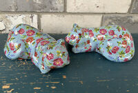 FORMALITIES BY BAUM BROS PORCELAIN SLEEPING CAT Blue Floral Cats Lot