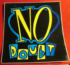 No Doubt Sticker Collectible Rare Vintage 90'S Metal Live Decal Gwen Stefani