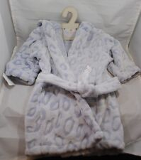 Blue Baby Robe 0-24 Months Belted Hooded Bear Plush COP Nat & Jules Demdaco NWT