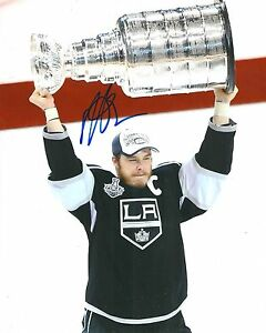 DUSTIN BROWN signed LOS ANGELES KINGS 8X10 STANLEY CUP TROPHY PHOTO COA
