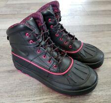 New listing Nike Acg Woodside 2 High Girls Kids Size 7 Black + Pink Duck Boots 524876-001
