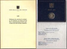 2 EURO VATICANO VATICAN VATIKAN FOLDER 2014 FDC MURO DI BERLINO + ACTA ORDINANZA