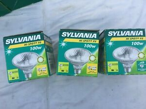 3x Sylvania  Hi-Spot 100W PAR30 Spotlight Bulbs.
