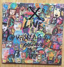 "X Live at Fabulous Whiskey-A-Go-Go 12"" Vinyl Record Album Original 1988 Release"