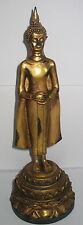 Mittwoch Buddha, Geburt-Figur, Sukothai-Stil, goldfarben,Thailand, 29x10cm