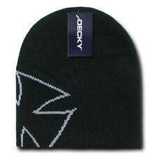 CHOPPER BEANIE HAT Short Knit Cap winter ski snowboard skull motorcycle BLACK