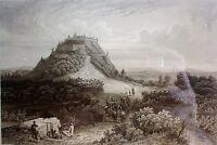 """Stahlstich um 1845  """"HOHENASBERG """" im Schwarzwald / vom Bibl. Inst Hildburghsn"""