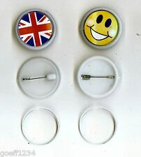 10 BLANK round diy make your own badges 25mmx25mm