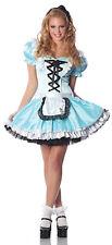 Ladies GO ASK ALICE Wonderland Costume Dress + Headband Adult Small Medium 2 4 6