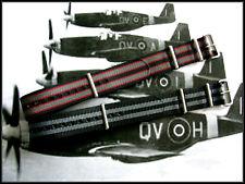 18mm Black Grey NATO g10 Prem nylon watch band 2pak RAF Bond IW SUISSE 20 22 24