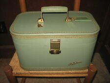 Vintage LADY BALTIMORE train case- LIGHT GREEN GREAT BUY!!