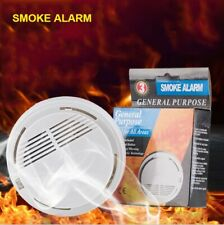 Lot of 5-Pack Smoke Alarm Detector Ionization Sensor Operated Home Fire Safety