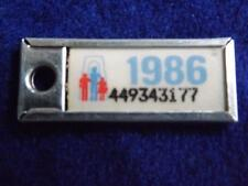 MINI LICENSE PLATE ONTARIO1986 449343177 WAR AMPS CANADA TAG KEY RING COLLECTOR