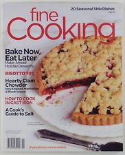 2012 FINE COOKING #119 make-ahead holiday desserts CLAM CHOWDER RECIPE cast iron