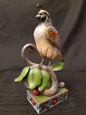 "New ListingEnesco Jim Shore Heartwood Creek ""Quite Quaint"" Quail Figurine 4021433 Bird"