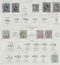 6 Siam Stamps from 19th Century Brown Scott Album 1883-1891