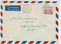 czechoslovakia 1950 airmail stamps cover ref 19662