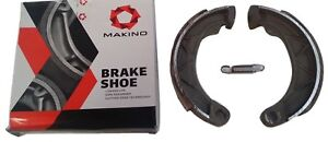 ukscooters LAMBRETTA BRAKE SHOES FRONT OR REAR GP MAKINO WITH FREE SPRING