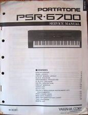 Yamaha PSR-6700 Portatone Midi Keyboard Workstation Original Service Manual Buch