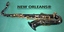 TENOR SAXOPHONE BLACK NICKEL NEW ORLEANS® Sib + Fa# + HARD CASE + MOUTHPIECE