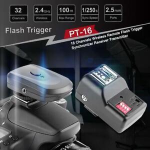 16 Channels Wireless Remote Flash Lamp Trigger Synchronizer Receiver Transmitter