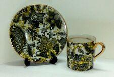 Beautiful ROYAL PAISLEY, Fine Bone China - miniature Cup & Saucer