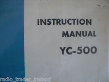 Yaesu YC-500 (véritable manuel d'instructions uniquement)... radio _ trader _ irlande.