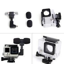 Side Open Skeleton Housing Case + Microphone + Adapter Kit for GoPro Hero 4 3 3+