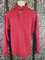 ORVIS MENS LONG SLEEVE 1/3 ZIP PULLOVER SWEATER SHIRT SIZE L RED