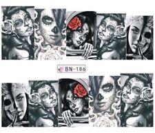 Nagel Sticker Tattoo La Catrina Totenkopf Fingernagel Nail  Nagelsticker