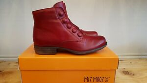 NEW IN THE BOX MIZ MOOZ LOUISE RED BOOTIES FOR WOMEN