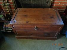 Lovely Vintage Rustic Wood Coffee Table/Blanket Chest