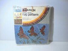 "Caron Butterflies Latch Hook Rug Canvas 20"" x 27"" Pre-Printed Crafts"