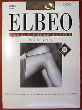 Elbeo Small Size Luxury Sheer Satine Gloss 10 Denier Tights with Lycra