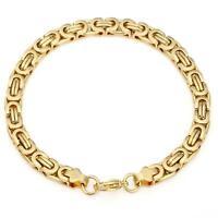 Armband 21 cm x 6 mm Königsarmband Echt 999 Gold 24 Karat vergoldet B1710-1L